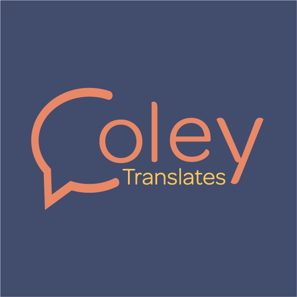 Coley Translates logo, Nicole Fenwick translations logo